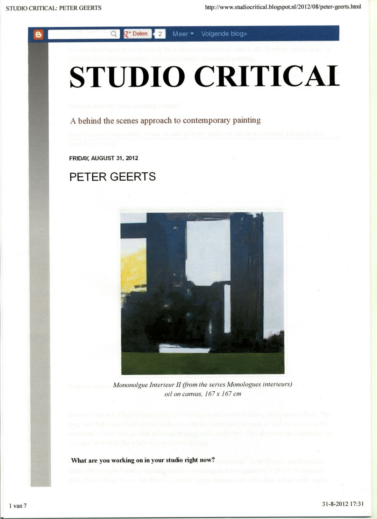 (interne memo: foto Studio Critical 2012)
