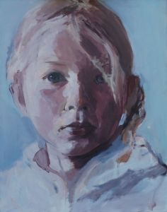 Peter Geerts - 2012 Portret van een meisje | Portrait from a girl | oil/canvas Private collection