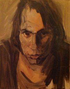 Peter Geerts - 1977 Zelfportret tijdens mijn studieperiode | Selfportrait during my studie at Möller Institute, Tilburg | oil/canvas