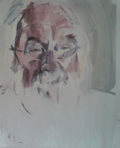 Peter Geerts - 2012 Portret van een man | Portrait from a man | oil/canvas Private collection Italy