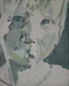 Peter Geerts - 1997 Portret van een meisje | Portret van een meisje | oil/canvas Private collection
