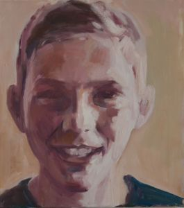 Peter Geerts - 2015 Portret van een jongen | Portret from a boy | oil/canvas