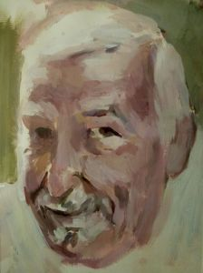 Peter Geerts - 2015 Portret van een man | Portrait from a man | oil/canvas Private collection Italy