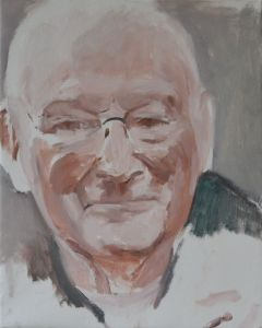 Peter Geerts - 2013 Portret van een man | Portrait from a man | oil/canvas Private collection
