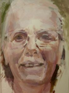 Peter Geerts - 2015 Portret van een vrouw | Portrait from a woman | oil/canvas Private collection Italy