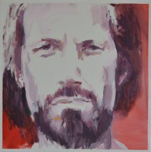 Peter Geerts - 2015 Portret van voetballer- | Portrait from footballplayer- Niels Overweg | oil/canvas
