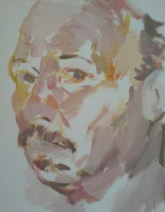 Peter Geerts - 2007 Zelfportret | Selfportrait | oil/canvas Private collection