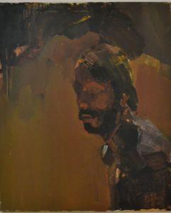 Peter Geerts - 1978 Zelfportret tijdens mijn studieperiode | Selfportrait during my study at Möller Institute, Tilburg | oil/canvas