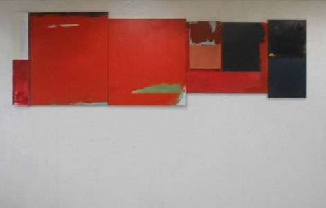 Peter Geerts - 2015-2016 [i]M1[/i] 120 x 378 cm oil/canvas, assembly samengesteld Project Labyrinth